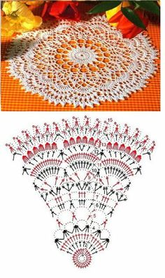 Ideas For Crochet Table Runner Chart Doily Patterns Filet Crochet, Crochet Doily Diagram, Crochet Mandala Pattern, Crochet Circles, Crochet Doily Patterns, Crochet Chart, Thread Crochet, Crochet Stitches, Knit Crochet