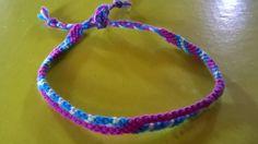 """Bracelet brésilien""""s"""" violet turquoise vert"""