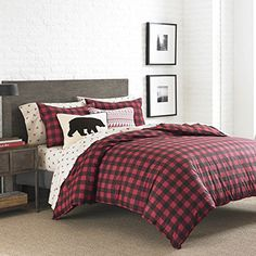 Eddie Bauer 210705 Mountain Plaid Comforter Set King Scarlet Red * More info could be found at the image url.