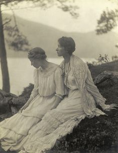 Untitled, [Two Women Under a Tree], 1910 (Alice Boughton) From Truth Beauty: Pictorialism and the Photograph as Art, 1845-1945, photos from the George Eastman House at the Phillips Collection, 2010. (Gallery here)
