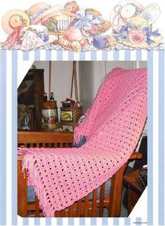 Pretty easy prayer shawl crochet pattern