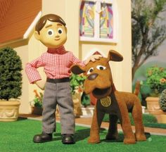 Davey and Goliath - a claymation cartoon developed by the Lutheran church.  I watched this show all the time.