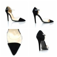 Clean and chic Transparent shoes