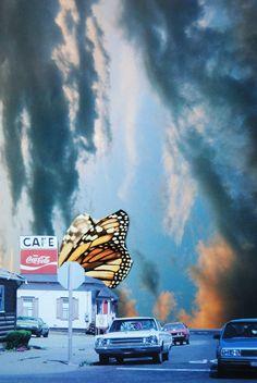 Butterfly Way, John Turck Collage