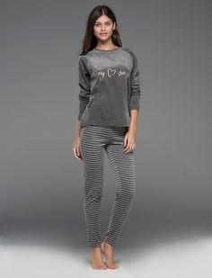 Velour long pyjama