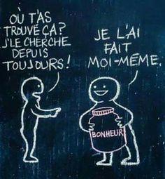 "Bonheur ""home made"" Image Citation, Quote Citation, Positive Mind, Positive Attitude, French Quotes, Some Words, Positive Affirmations, Words Quotes, Quotations"