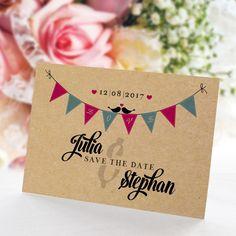 Save the Date Karte Hochzeit Boho Style: https://www.meine-hochzeitsdeko.de/save-the-date-karte-hochzeit-boho-style