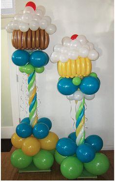 Cupcake Balloon Pillar