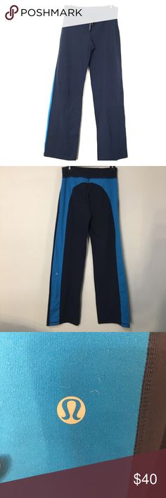 Lululemon wide leg color block pant. Size 4 These color lock wide leg pants are in excellent condition!!! Perfect for lounging around or brisk outdoor activities! lululemon athletica Pants Wide Leg