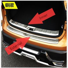 Stainless Steel Rear Trunk Scuff Plate for Nissan Qashqai 2014 2015 2016 J11 Bumper Door Sill Protector Cover Car Accessories #Affiliate