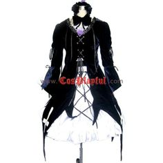 Suigintou Mercury Lampe Lolita Cosplay Costume ❤ liked on Polyvore featuring costumes, role play costumes, cosplay costumes, black costume, cosplay halloween costumes and maiden costume