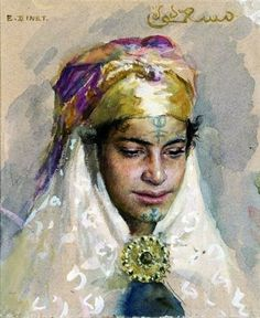 Egyptian Women, Islamic World, Woman Drawing, Portraits, Ethnic Jewelry, Pop Art, Medieval, Old And New, Museum