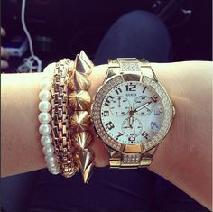 #Guess #watch #pearls