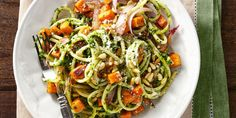 Want to make Bucatini with Winter Pesto and Sweet Potatoes? Get our best-ever recipe for Bucatini with Winter Pesto and Sweet Potatoes. Pasta Recipes Indian, Easy Pasta Dinner Recipes, Pasta Recipes For Kids, Chicken Pasta Recipes, Vegan Dinner Recipes, Vegan Dinners, Vegetarian Recipes, Veggie Recipes, Italian Recipes