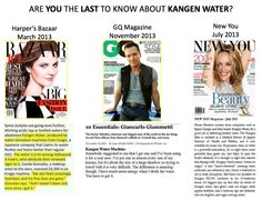Kangen Water Features In GQ Magazine, Harper's Bazaar and New You Magazine