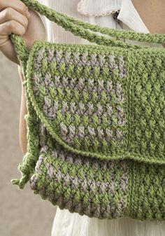 Crochet messenger bag pattern