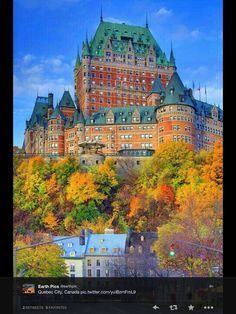 Hotel Frontenac, Quebec City-My suite overlooked the river. I bought a bathrobe as a souvenir & I still have it today!  Beautiful, beautiful place!