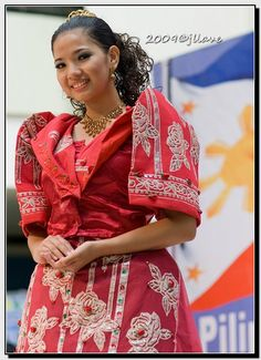 Traditional dress in Philippines **: Philippines Outfit, Philippines Culture, Philippines Flag, Filipiniana Dress, Filipino Fashion, Filipino Culture, Ethnic Dress, We Are The World, Folk Costume