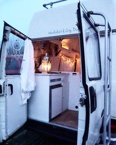 Little White Van ( Cool Campers, White Vans, Van Camping, Little White, Rv Living, Campervan, Van Life, Road Trip, Photo And Video