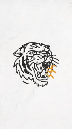 Tiger Bolt - Phone Wallpaper P&Co - My best shares Mike Giant, Tiger Tattoo, Flash Art, Future Tattoos, Graphic Design Inspiration, Art Inspo, Small Tattoos, Line Art, Art Drawings