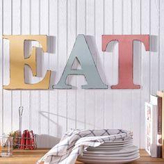 Plaid FolkArt Home Décor Chalk Letters Eat
