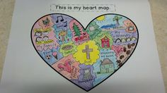 Make a Faith-filled Heart map... (link to a secular site) easily adapted to the religion classroom.