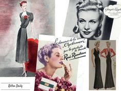 fall trends 1938 1930s vintage fashion long dress cyclamen