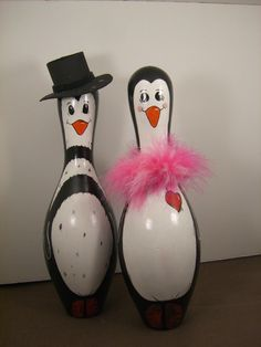 Penguin Bowling Pin by erwindoodads on Etsy, $15.00