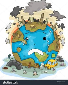 Illustration Of Crying Earth Due To Pollution Stock Photo, Picture And Royalty Free Image. Save Planet Earth, Save Our Earth, Environmental Pollution, Environmental Issues, Environmental Education, Air Pollution Poster, Save Earth Drawing, Save Water Poster Drawing, Save Earth Posters