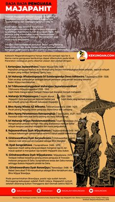 Sejarah Kerajaan Terbesar di Nusantara; Majapahit atau Wilwatikta | KEKUNOAN | Kekinian - Keakanan History Timeline, History Facts, Public Knowledge, Knowledge Quotes, Asian History, History Channel, Teaching History, Illustrations And Posters, World History