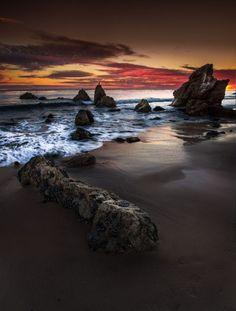 Malibu ~ sunset seascape, California by Mohammad Abul