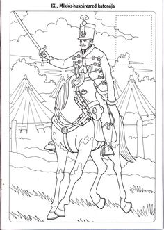 Magyar huszárok Adult Coloring, Coloring Pages, Toddler Preschool, Life Drawing, Hand Embroidery, Have Fun, Mandala, March, Mac