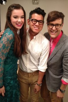 Peter with Hailee Steinfeld and Teen Vogue's Andrew Bevan backstage at the Spring 2013 show.