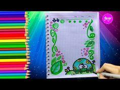 IDEAS PARA MARCAR CUADERNOS - Cómo dibujar márgenes - Dibujos para niños - Yaye - YouTube Photomontage, Montage Photo, Decorate Notebook, My Notebook, Creations, Doodles, Bullet Journal, Photos, Lettering