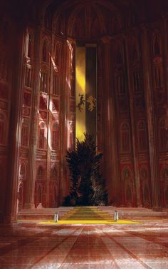 ArtStation - The Iron Throne, for the tabletop miniature game, Marc Simonetti