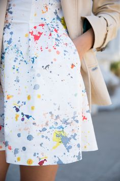 Gal Meets Glam- Paint Splatter Dress