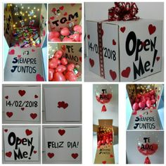 65 new ideas for birthday surprise box ideas valentines day Birthday Box, Friend Birthday Gifts, Handmade Gifts For Friends, Diy Gifts, Cute Couple Gifts, Birthday Surprise Boyfriend, Surprise Box, Romantic Gifts, Boyfriend Gifts