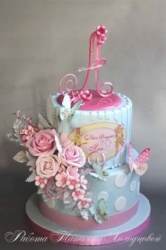 Birthday cake girls teens baby shower 65 ideas for 2019 Happy Birthday Cake Images, Pretty Birthday Cakes, 1st Birthday Cakes, Beautiful Cakes, Amazing Cakes, Mountain Cake, Cake Models, Cupcake Pictures, Girly Cakes