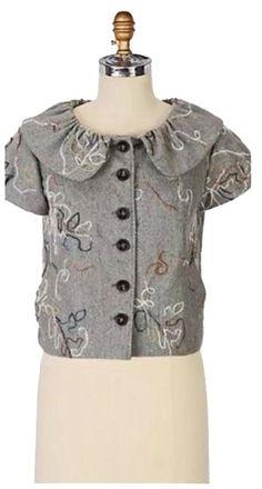 47b7414cf754a5 Anthropologie Salka Jacket Jacket - 60% Off Retail Anthropologie Brands,  Gray Jacket, Tweed. Tradesy