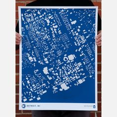 would be fun to have a collection of maps of cities we've lived in, Detroit!