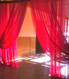 4 grand entrance curtains wedding any color chiffon ( sheer ) backdrop white ivory pink black