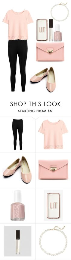 """""""Pretty in Pink Budget Find"""" by alexishannah15 ❤ liked on Polyvore featuring Boohoo, Essie, Missguided and Saks Fifth Avenue"""