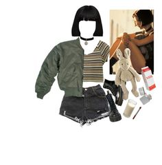 """Mathilda: the Professional"" by valiumbaby ❤ liked on Polyvore featuring Dr. Martens and Zara"