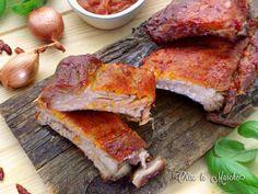 Costine con salsa barbecue, al forno