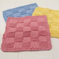 Handmade washcloths are wonderful for use in the bath or kitchen and make great gifts!