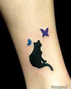 cat tattoo | Tattoo Ideas Central Love the silouttes and the solid colors.