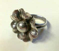 bd2d12931 Vintage Artisian Silver Flower Ring Size 7 by TrendyTreasures1, $39.00 # Vintage #EcoChic #TeamLove