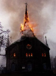 """""""St. Margaret Marys blew up."""" """"Were there any children in it?"""" """"No you freak! It was being used for storage by the diocese."""""""