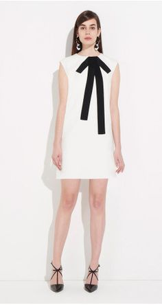 A-line dress in satin-backed crepe