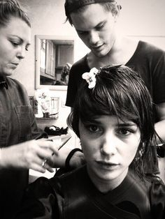 Addison Timlin (our Luce) getting her cut off by Jeremy Irvine (our Daniel) :-)